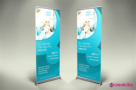 banner design for dental clinic dental clinic roll up banner v014 presentation
