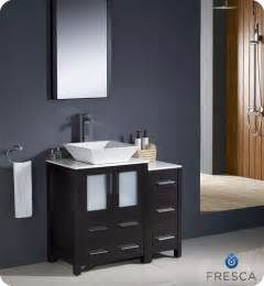 Bathroom Vanities With Double Sinks by Fresca Torino 36 Quot Espresso Modern Bathroom Vanity With
