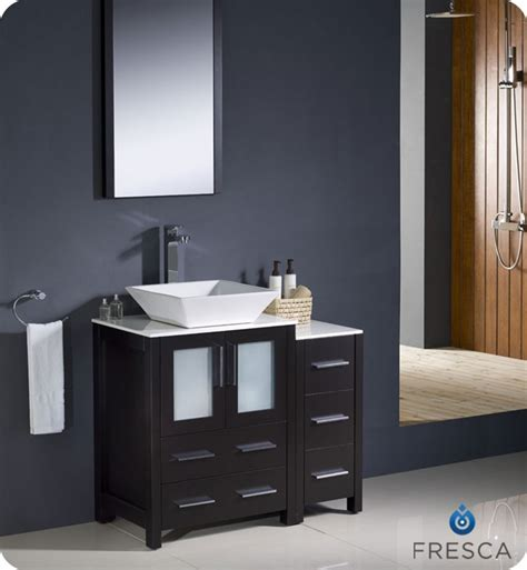 Bathroom Vanity With Side Cabinet Fresca Torino 36 Quot Espresso Modern Bathroom Vanity With Side Cabinet
