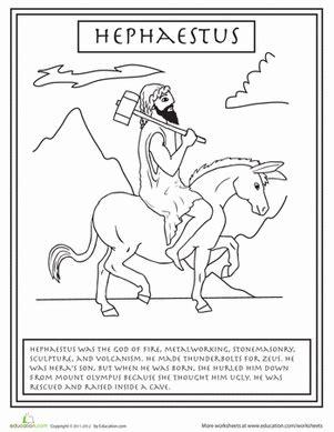 gods colouring book lyrics chords gods hephaestus worksheet education