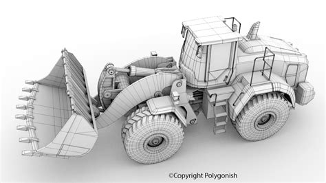 volvo l250h wheel loader 3d model polygonish store