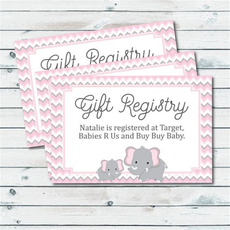 baby shower registration card templates how to include registry in baby shower invitation