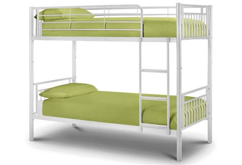 White Metal Bunk Beds Julian Bowen Atlas Metal Bunk Bed White Gloss Finish Package With 2 Single Premier