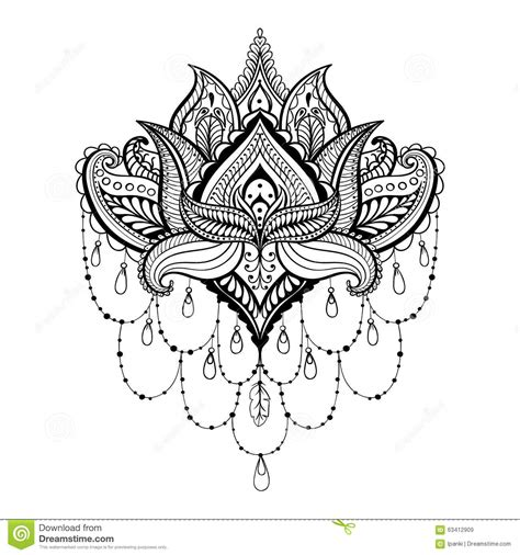 anti stress coloring book in dubai vector ornamental lotus ethnic zentangled henna