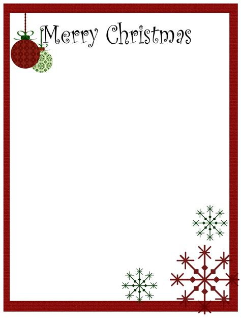 free printable christmas paper templates borders for stationary printable