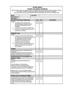 health and safety forms templates safety certificate template 8 free word pdf document