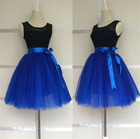 classic royal blue 8 layers tulle skirt womens princess