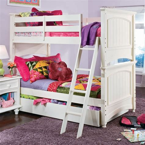 White Loft Bed With Desk Isabelle Loft Bed Image Of
