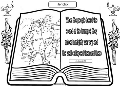 Jericho Jericho Coloring Page Joshua And The Walls Of Jericho Coloring Page