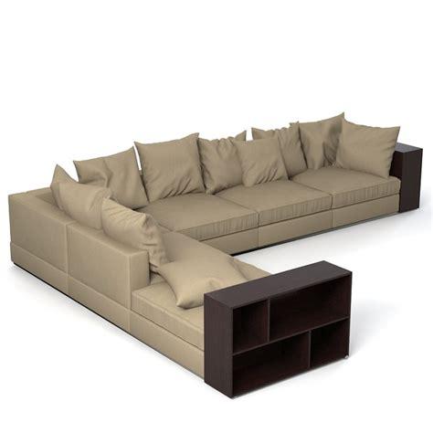 flexform sectional flexform groundpiece sofa 3d model