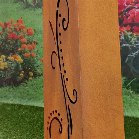 Colonne Decoration by Colonne D 233 Coration Jardin En M 233 Tal Galvanis 233 Couleur Rouille