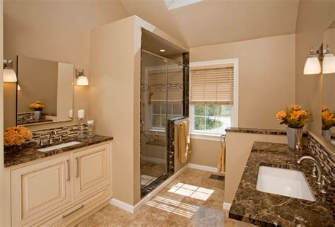 light emperador marble Bathroom Traditional with accent