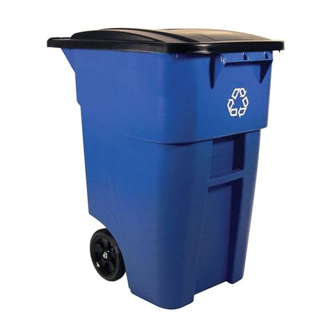 Blue Rubbermaid Small rubbermaid commercial products brute 50 gal blue rollout