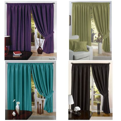 aubergine curtains 90 x 90 b m gt faux silk fully lined pencil pleat curtain 90 quot x90