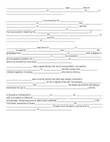 Fill in newspaper obituary template for word fill in the blank