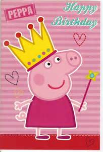 peppa pig quot happy birthday quot greatings card ebay
