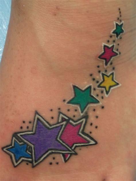 shooting star name tattoo designs my shooting foot tattoos