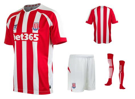 Stoke City Home 1516 Official maglie stoke city 2014 2015 arriva warrior per i potters