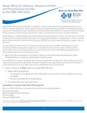 blue cross roster billing form fill online, printable