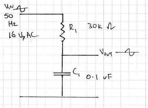capacitor effect on sine wave capacitor in a voltage divider used on a sine wave electronics forum circuits projects and