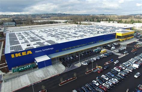 wäschetruhe ikea ikea installs washington s largest rooftop solar array at