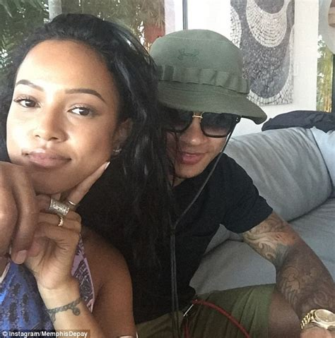 memphis depay spends more time with karrueche tran as he