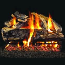 Gas Logs Peterson Real Fyre 30 Inch Charred Rugged Split Oak