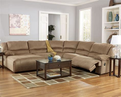 hogan mocha sectional hogan mocha 5 piece left chaise reclining sectional