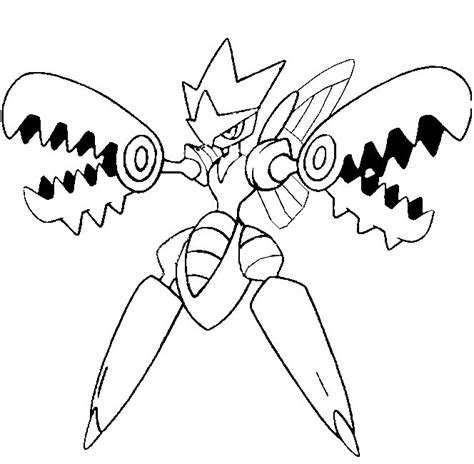 pokemon coloring pages heracross coloriage pokemon mega carchacrok