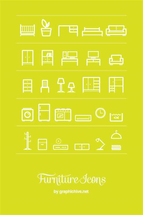 design icon furniture 30 minimalist furniture icon set crazyleaf design blog