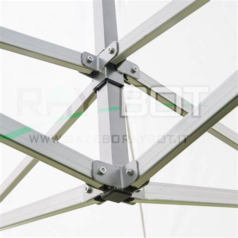 gazebo rapido gazebo rapido 3x3 alluminio verde exa 55mm con finestre