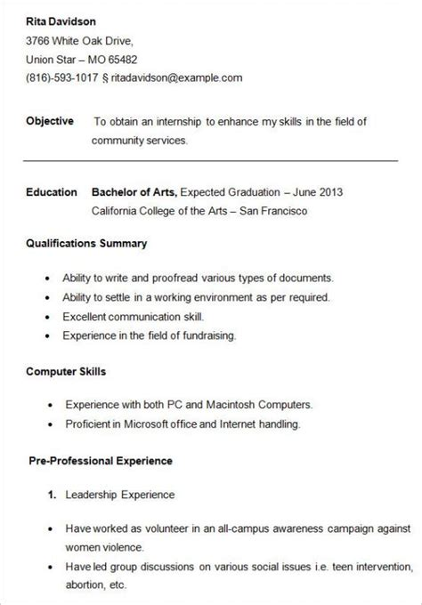 examples of resumes for college students oyle kalakaari co