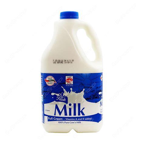 two l al ain fresh milk full cream 2 l buy online