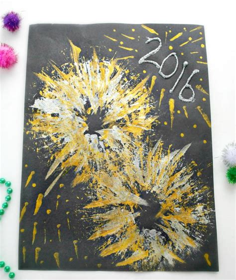 fireworks crafts for new year s fireworks craft in the playroom