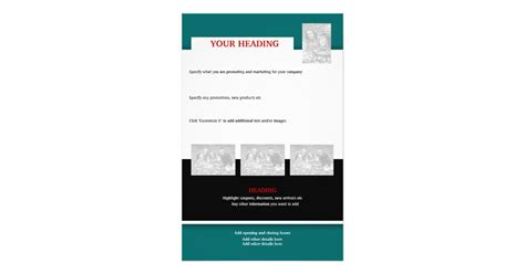 Flyer Template Create Your Own 5 5 Quot X8 5 Quot Zazzle Make Your Own Flyers Templates
