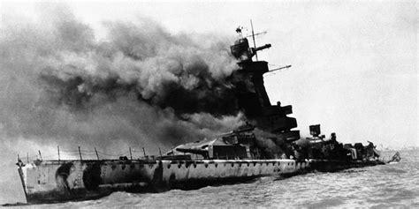 biggest ships in world war 2 british navy sinks german ship graf spee in first naval