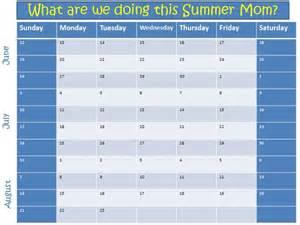 summer calendar template 2011 summer planning template amazzicolors