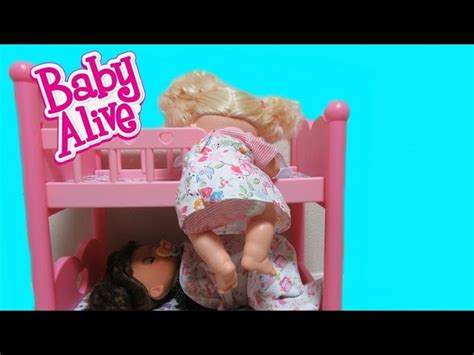 baby alive bed baby alive real surprises doll sneaks out of bed for a