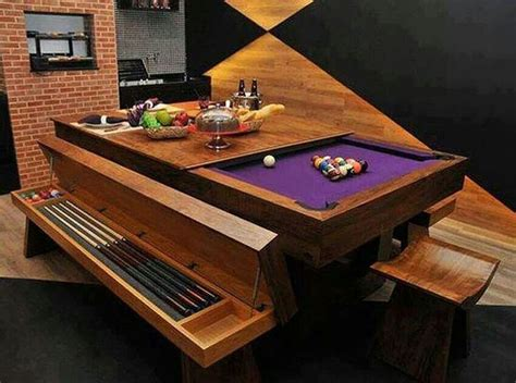 combination dining table pool table for the home