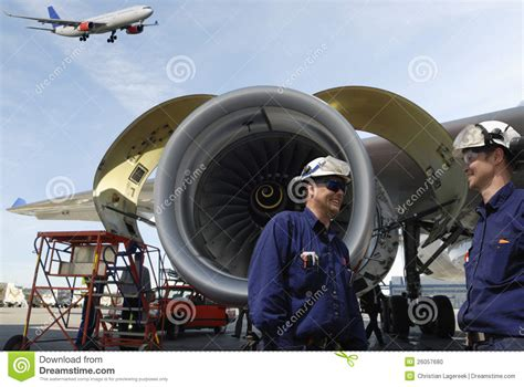 Jet Engine Mechanic by Airplane Mechanics And Jet Engines Stock Photo Image 26057680