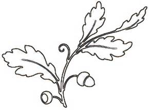 oak leaf stencil printable kids coloring