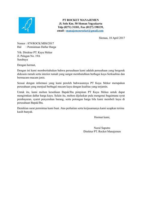 Contoh Surat Resmi Permintaan Barang by Contoh Surat Permintaan Terbaik Dan Terbaru