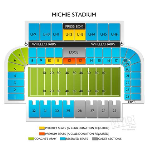 michie stadium seating chart michie stadium seating chart seats