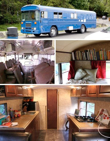 Tiny Portable Home Plans school s out forever 12 crazy diy converted bus homes