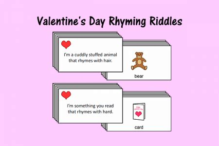 valentines day riddle s day rhyming riddles speech therapy ideas