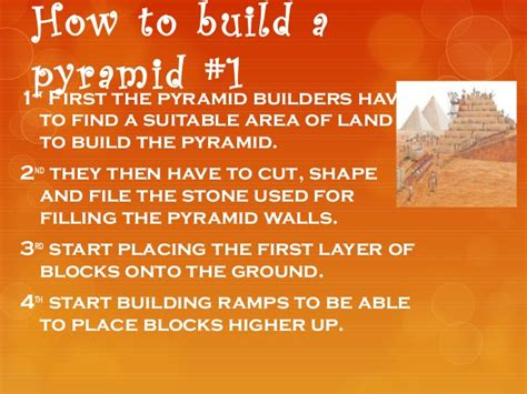 How Of How To Build A Pyramid