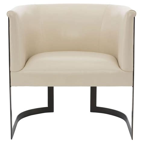 cream armchair maisie modern classic cream leather metal armchair kathy