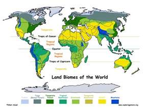 World Map Of Biomes by Marine Biome Location Map