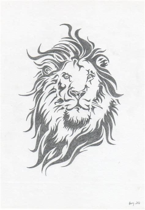 lion tribal by xeraton on deviantart