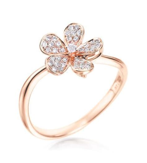rings with flowers kc desings flower collection 14k gold small